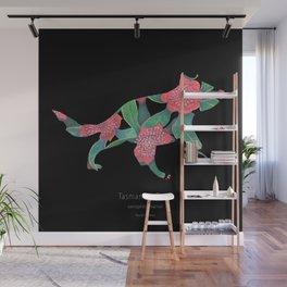 Tasmanian Devil - black Wall Mural