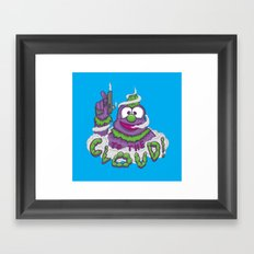 To The Cloud! Framed Art Print