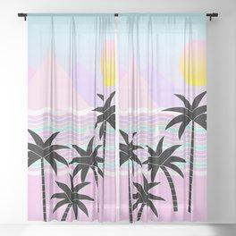 Hello Islands - Sunny Shores Sheer Curtain