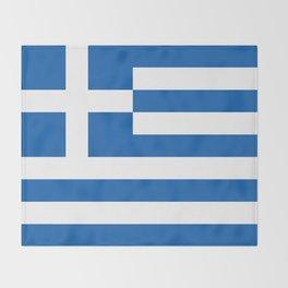 Flag of Greece, High Quality image Throw Blanket