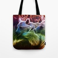 bears Tote Bags featuring Bears by Veronika