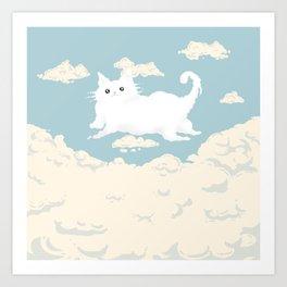 Cat Cloud Art Print