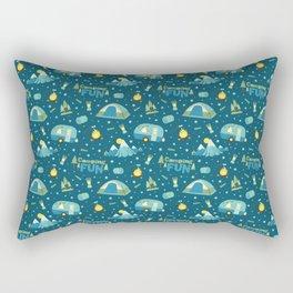 Camping Fun Pattern Rectangular Pillow