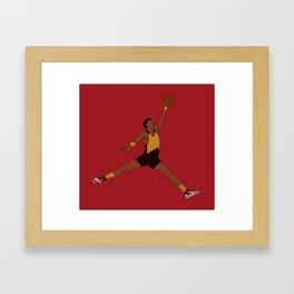Air Geordi Framed Art Print