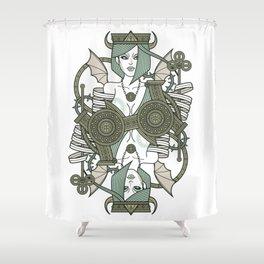 SINS Mentis - Envy Queen of Clubs Shower Curtain
