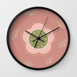 Japanese-inspired Pink Plum Blossom Wall Clock