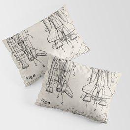 Nasa Space Shuttle Patent - Nasa Shuttle Art - Antique Pillow Sham