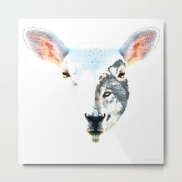 A Wolf In Sheep's Clothing by Sharon Cummings Metal Print