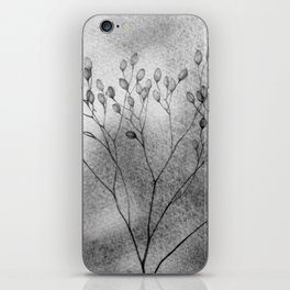 Autumn in the meadow, bw iPhone Skin