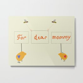 Cute image for mother`s day gift Metal Print