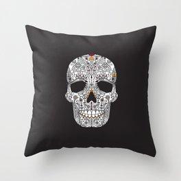 La Catrina, in the dark Throw Pillow