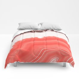Living Coral Agate Comforters