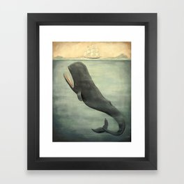 Leviathan Below Framed Art Print