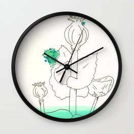 Poppy Seed Wash Wall Clock