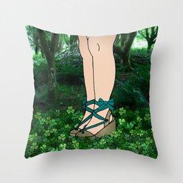 Stroll in an Irish Forest Throw Pillow