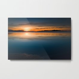 Black Mountains Sunset at Salt Air of the Great Salt Lake Metal Print