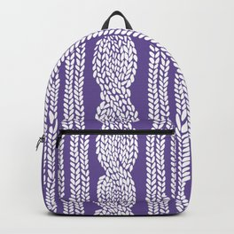 Cable Stripe Violet Backpack