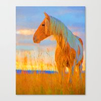 mustang Canvas Prints featuring Mustang by DigitalAndPhoto