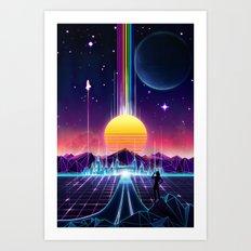 Neon Sunrise Art Print