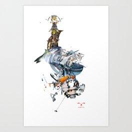 BQ-45 Spacecraft Art Print