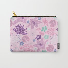 Purple Japanese pond florals Carry-All Pouch