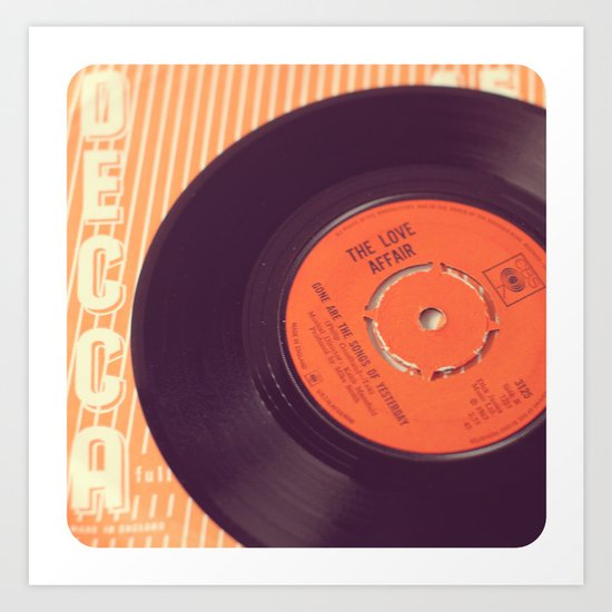 Vintage Record  Art Print