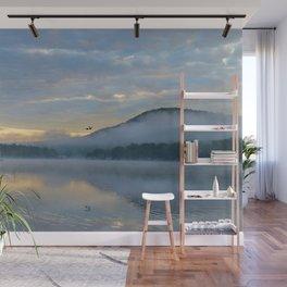 Dreamy Morning: Serene Shades of Blue Wall Mural