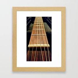 6 strings at the nut Framed Art Print