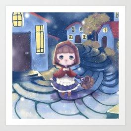 The first snow - Fairytale edition Art Print