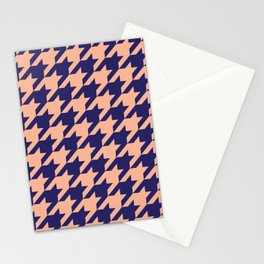 Houndstooth (Blue and Beige) Stationery Cards