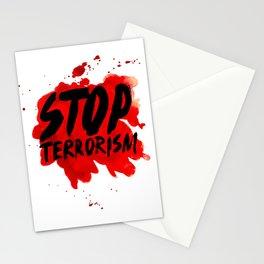 Stop terrorism Stationery Cards
