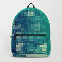 Green Teal Blue Pixels Backpack