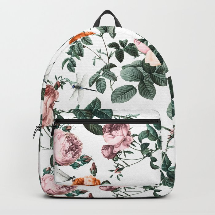 Floral and Winged Darter Backpack