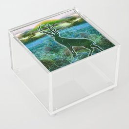 Garden of the Glitch Valley Stag Acrylic Box