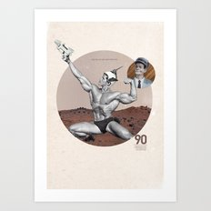 Arnie - Total Recall Art Print