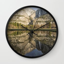 View of Yosemite Falls from Cook's Meadow Wall Clock