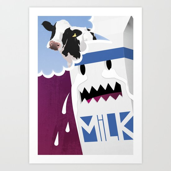 Where's the Milk? Art Print