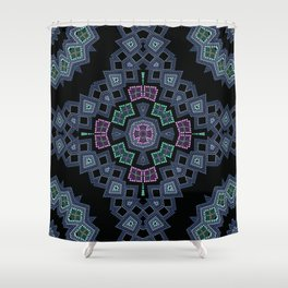 Embroidered beads pattern 1 Shower Curtain