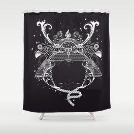 Samurai helmet - Kabuto - Shower Curtain