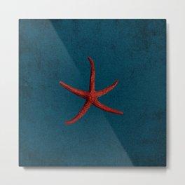 vintage starfish Metal Print