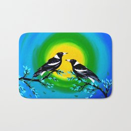 Sun and Birds Bath Mat