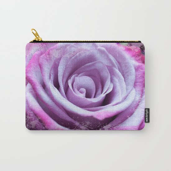 Rose of Love #Pink #Purple #art #society6 Carry-All Pouch
