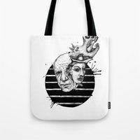 picasso Tote Bags featuring Picasso by Benson Koo