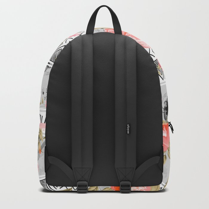 Pattern flowers with triangular shapes Backpack