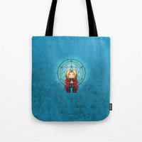 ed sheeran Tote Bags featuring Ed Elric by MythicPhoenix