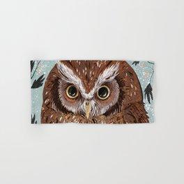 Painted Owl Hand & Bath Towel