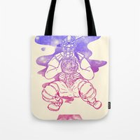 dreamcatcher Tote Bags featuring Dreamcatcher by Jonah Makes Artstuff