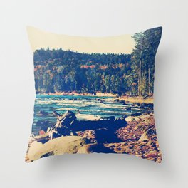 Rocky Shores of Lake Superior Throw Pillow