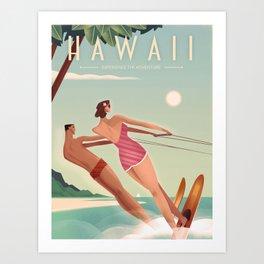 Vintage Travel Poster Hawaii Art Print