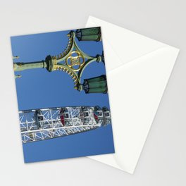 London eye and lamps Stationery Cards